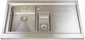 Astracast Sink Bistro 1.5 bowl sit on work centre with right hand drainer & extras.