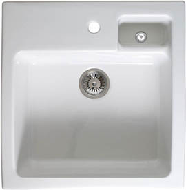 Astracast Sink Canterbury 1.5 bowl sit-in ceramic kitchen sink