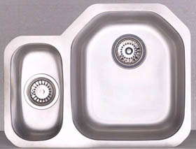 Astracast Sink Echo D1 1.5 bowl left handed stainless steel kitchen sink.