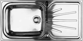 Astracast Sink Korona 1.0 bowl polished stainless steel kitchen sink.