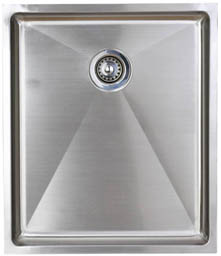 Astracast Sink Onyx flush inset kitchen drainer in brushed steel finish.