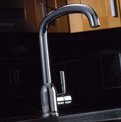Abode Tate Monobloc Kitchen Tap With Swivel Spout (Chrome).