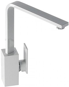 Abode Media Monobloc Kitchen Tap With Swivel Spout (Gloss White).