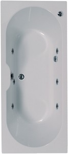 Aquaestil Calisto Double Ended Whirlpool Bath. 6 Jets. 1700x700mm.