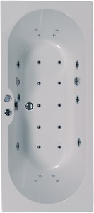 Aquaestil Calisto Eclipse Double Ended Whirlpool Bath. 24 Jets. 1800x800mm.