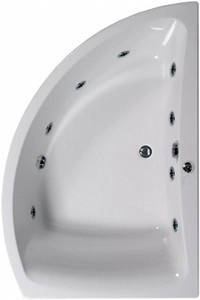 Aquaestil Comet Aquamaxx Corner Whirlpool Bath, 8 Jets. Right Handed.