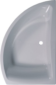 Aquaestil Comet Corner Bath.  Right Handed. 1500x1000mm.