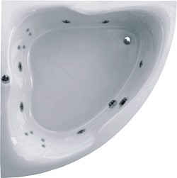 Aquaestil Gloria Corner Whirlpool Bath. 14 Jets. 1400x1400mm.