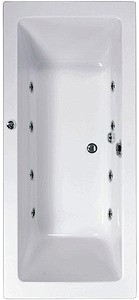 Aquaestil Plane Double Ended Whirlpool Bath. 8 Jets. 1600x700mm.