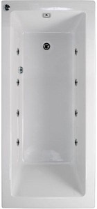 Aquaestil Plane Solo Whirlpool Bath. 8 Jets. 1800x800mm.