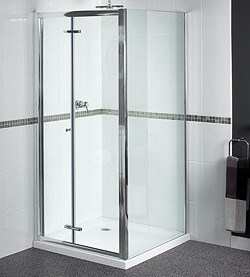 Aqualux Shine Shower Enclosure With Bi-Fold Door. 760x760, (Square).