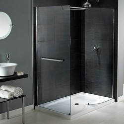 Aqualux Shine Walk In Shower Enclosure With Tray 1400x900mm (Reversible).