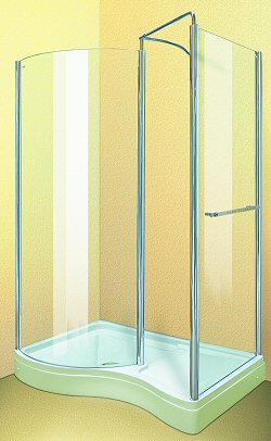Aqua Enclosures Hawaii Left Handed walk in shower enclosure with tray and waste
