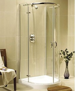 Image Allure 900x900 D Shaped Quadrant Shower Enclosure And Tray