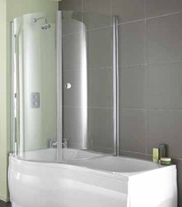 Aquarius Versilla Complete Shower Bath (Left Handed).  1500x900mm.