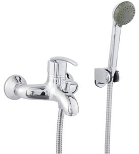 Allure Single lever wall mounted bath shower mixer
