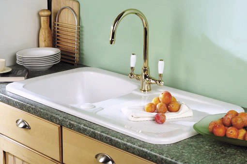 Example image of Astracast Sink Aquitaine 1.0 bowl ceramic kitchen sink.