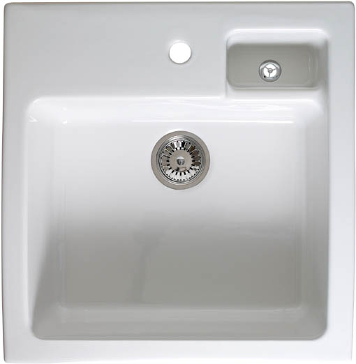 Larger image of Astracast Sink Canterbury 1.5 bowl sit-in ceramic kitchen sink