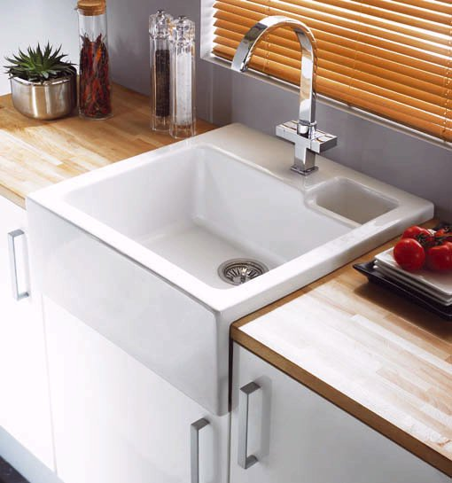 Example image of Astracast Sink Canterbury 1.5 bowl sit-in ceramic kitchen sink