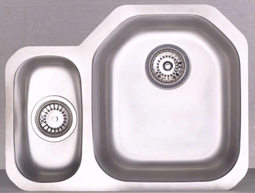Larger image of Astracast Sink Echo D1 1.5 bowl left handed stainless steel kitchen sink.