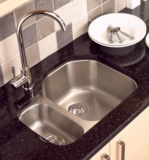Example image of Astracast Sink Echo D1 1.5 bowl left handed stainless steel kitchen sink.