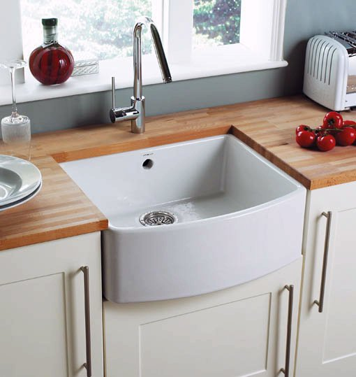 Example image of Astracast Sink Edinburgh 1.0 bowl bow front ceramic kitchen sink