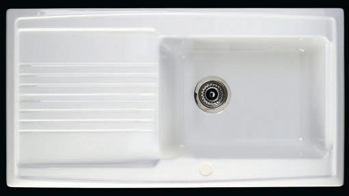 Larger image of Astracast Sink Equinox 1.0 bowl ceramic kitchen sink.