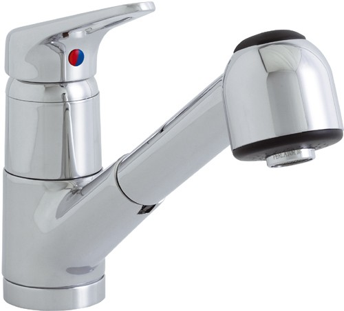 Larger image of Astracast Single Lever Finesse 259 kitchen mixer tap with pull out rinser.