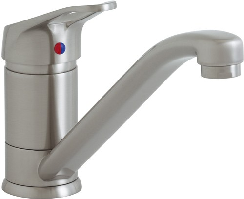 Larger image of Astracast Single Lever Finesse monoblock 709 kitchen tap in brushed steel.
