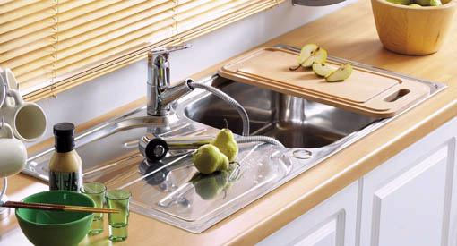 Example image of Astracast Sink Korona 1.0 bowl polished stainless steel kitchen sink.