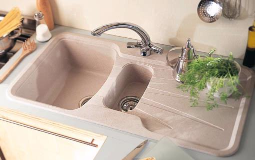 Example image of Astracast Sink Korona 1.5 bowl granite rok opal white composite kitchen sink.