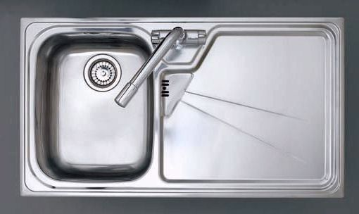 Larger image of Astracast Sink Lausanne 1.0 bowl stainless kitchen sink with right hand drainer.