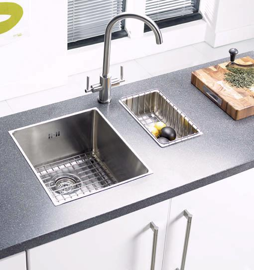 Example image of Astracast Sink Onyx medium bowl flush inset kitchen sink & Extras.
