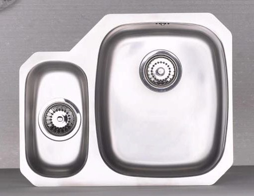 Larger image of Astracast Sink Opal S3 1.5 bowl left handed stainless steel kitchen sink.