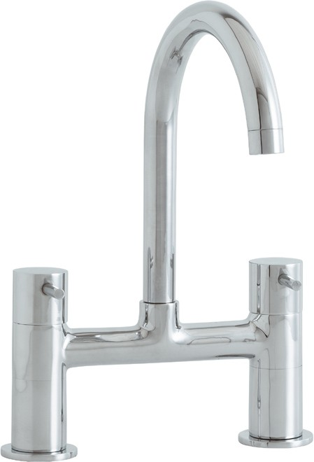 Larger image of Astracast Contemporary Shannon bridge kitchen mixer tap.