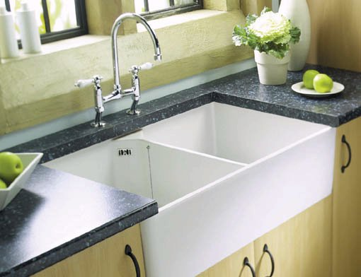 Example image of Astracast Sink Sudbury 2.0 bowl sit-in ceramic kitchen sink.