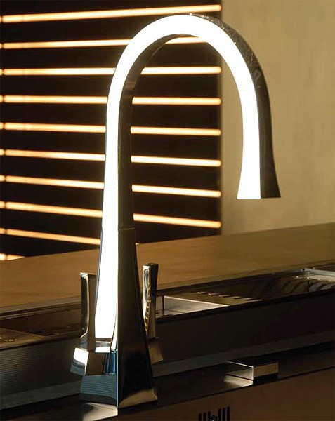 Larger image of Abode Decadence Dual Lever Kitchen Tap (Chrome).