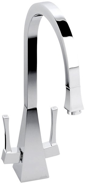 Example image of Abode Decadence Dual Lever Kitchen Tap (Chrome).