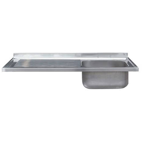 Larger image of Acorn Thorn Catering Single Bowl Sink With LH Drainer 1000mm (S Steel).