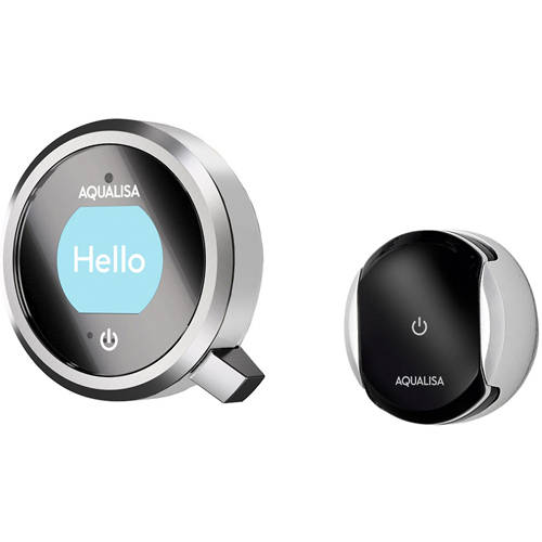 Example image of Aqualisa Q Smart Taps Pack 09S With Remote & Silver Accent (HP).