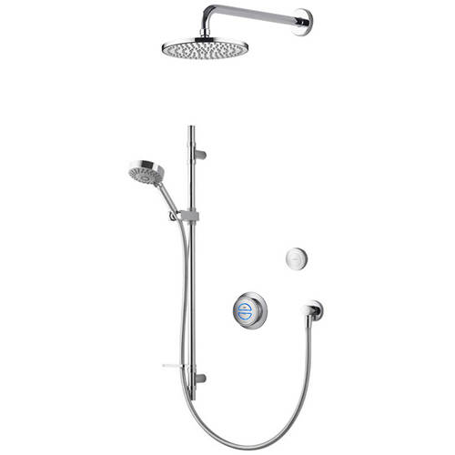 Larger image of Aqualisa Rise Digital Shower With Remote, Slide Rail Kit & Fixed Head (GP).