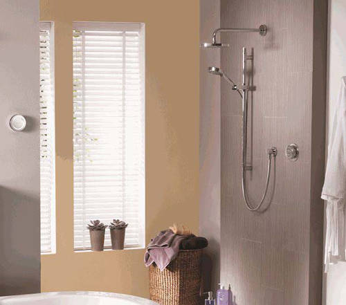 Example image of Aqualisa Rise Digital Shower With Remote, Slide Rail Kit & Fixed Head (GP).