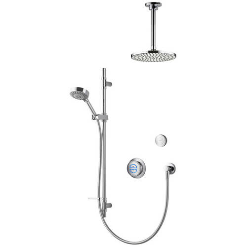 Larger image of Aqualisa Rise Digital Shower With Remote, Slide Rail Kit & Fixed Head (HP).