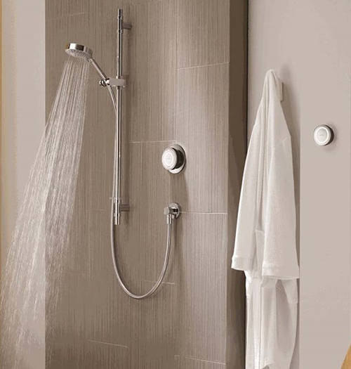 Example image of Aqualisa Rise Digital Shower With Remote, Slide Rail Kit & Fixed Head (HP).