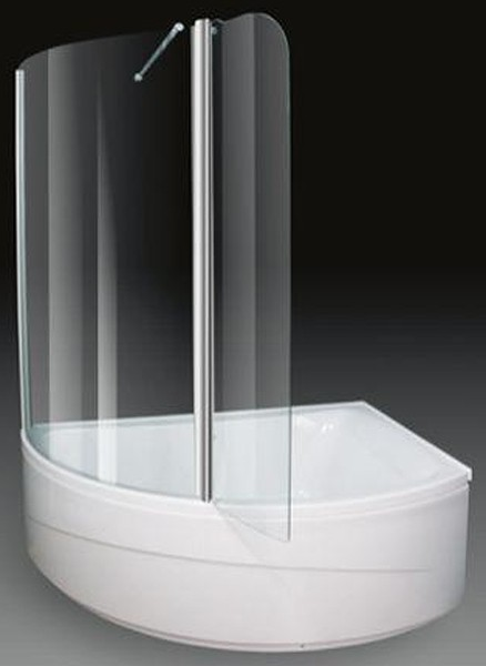 Larger image of Aquaestil Comet Corner Shower Bath With Screen.  Right Hand. 1500x1000mm.