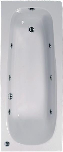 Larger image of Aquaestil Mercury Aquamaxx Whirlpool Bath. 6 Jets. 1600x700mm.