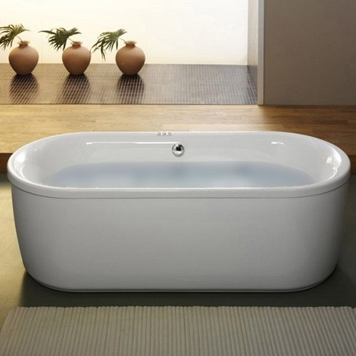 Larger image of Aquaestil Metauro Classic Freestanding Bath With Panel. 1800x800mm.