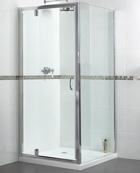 Larger image of Aqualux Shine Shower Enclosure With Pivot Door. 800x800mm, (Square).