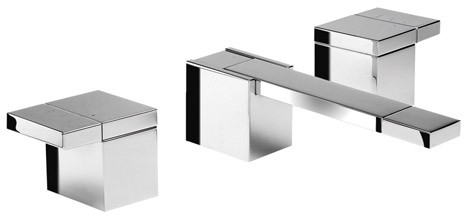 Damixa G Type.Damixa G Type 3 Tap Hole Basin Mixer Tap With Pop Up Waste Chrome