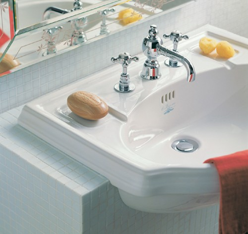 Larger image of Arcade Semi-Recessed Basin. 670 x 485mm.